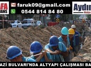 BATI GAZİ BULVARI'NDA ALTYAPI ÇALIŞMASI BAŞLADI