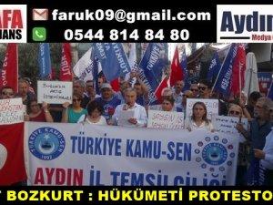 AHMET BOZKURT : HÜKÜMETİ PROTESTO ETTİK