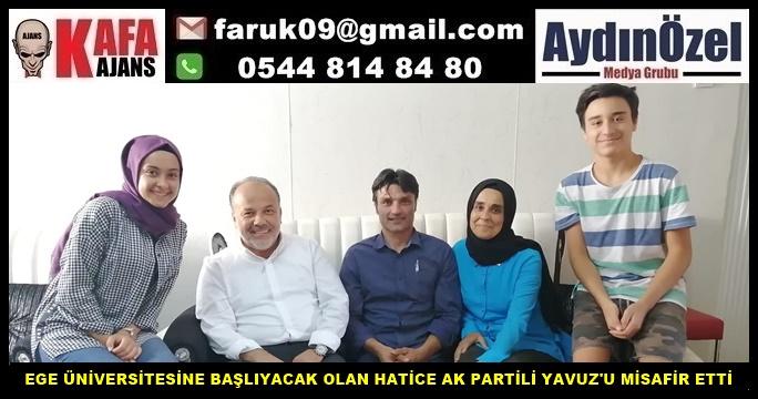 HATİCE AK PARTİLİ YAVUZ'U MİSAFİR ETTİ