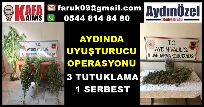 Aydında Operasyon : 3 Tutuklama 1 Serbest