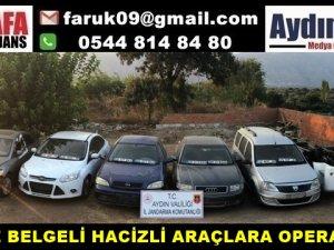 SAHTE BELGELİ HACİZLİ ARAÇLARA OPERASYON