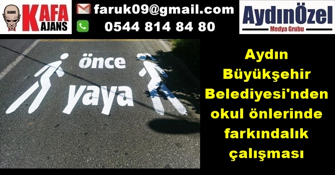Aydın Büyükşehir Belediyesi'nden okul önlerinde farkındalık çalışması