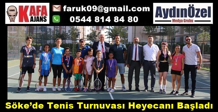 Söke'de Tenis Turnuvası Heyecanı Başladı