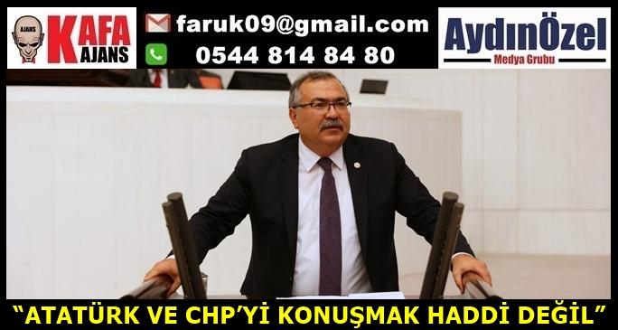 """""""ATATÜRK VE CHP'Yİ KONUŞMAK HADDİ DEĞİL"""""""