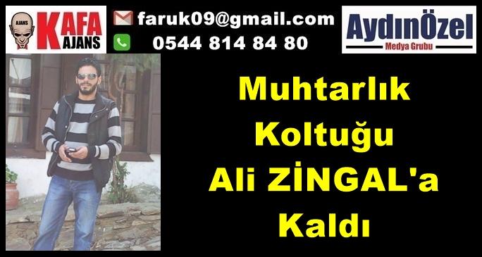 Muhtarlık Koltuğu Ali ZİNGAL'a Kaldı
