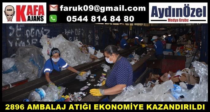 2896 AMBALAJ ATIĞI EKONOMİYE KAZANDIRILDI