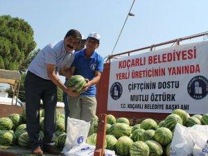 Belediye Başkanı Mutlu Öztürk'den Karpuz Üreticine Destek