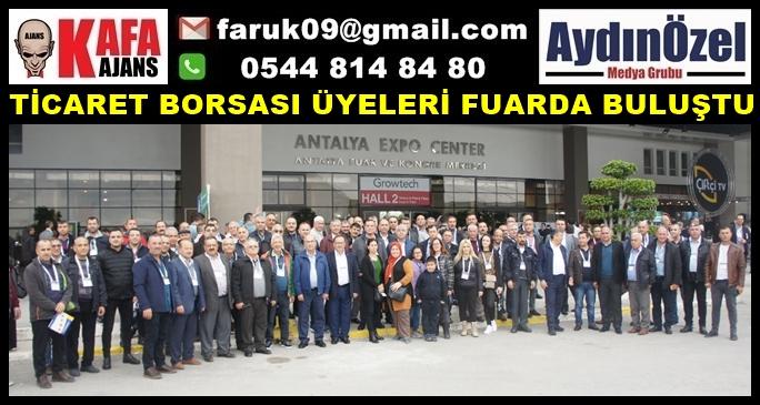 TİCARET BORSASI ÜYELERİ FUARDA BULUŞTU