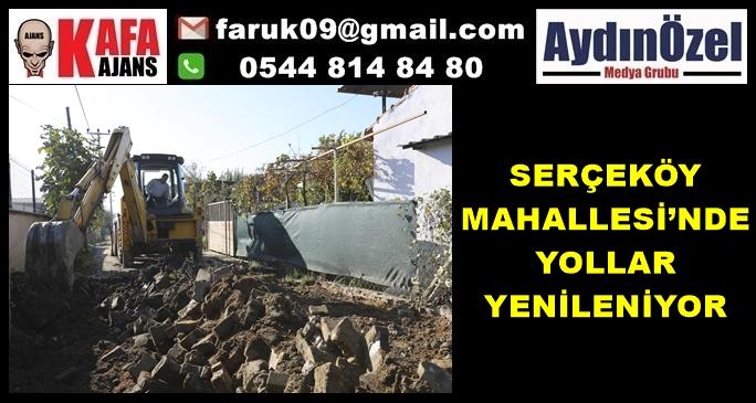 SERÇEKÖY MAHALLESİ'NDE YOLLAR YENİLENİYOR