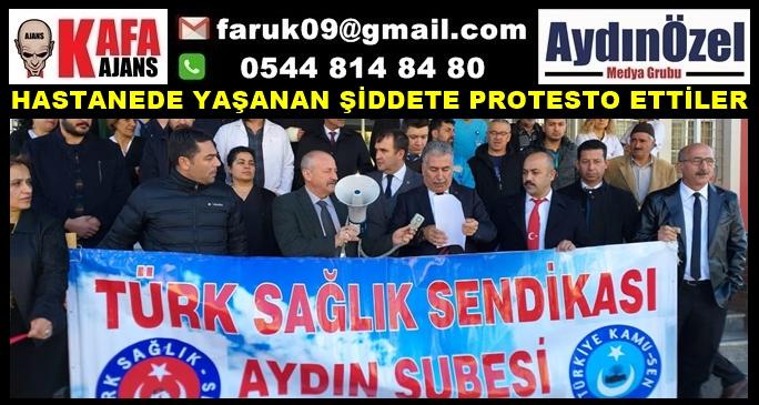 HASTANEDE YAŞANAN ŞİDDETE PROTESTO ETTİLER