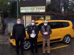 Bornovalı şoförlere koronadan korunma paketi