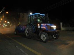 Menderes'te Tüm Sokaklar Dezenfekte Edildi