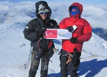KUDAK sporcuları Elbruz Dağı'nda