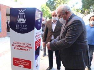 Efeler Belediyesi'nden El Dezenfektan Ünitesi