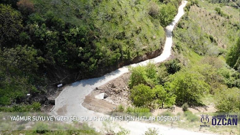 Nazilli Belediyesi köylerde yol hamlelerine devam ediyor