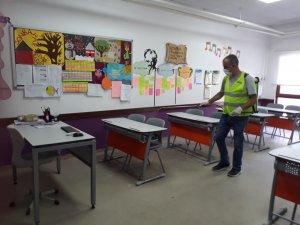 Bergama'da tüm okullar LGS sınavı için dezenfekte edildi