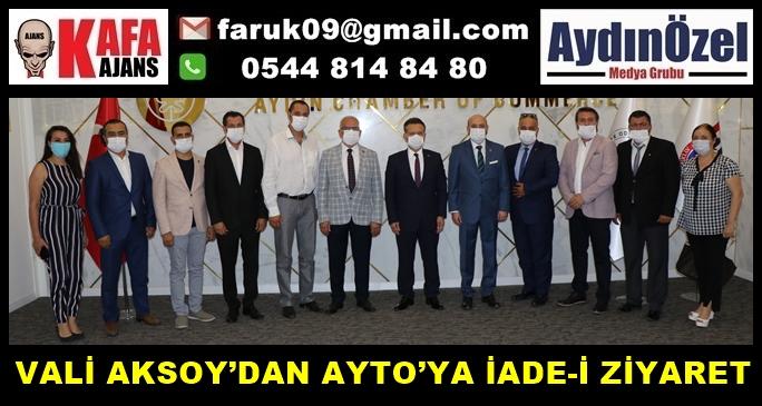 VALİ AKSOY'DAN AYTO'YA İADE-İ ZİYARET