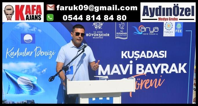 """TURİZMİN BAŞKENTİ KUŞADASI'NDA 26 """"MAVİ BAYRAK"""" DALGALANIYOR"""