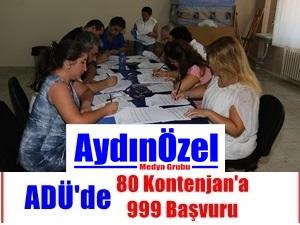 ADÜ'de 80 Kontenjan'a 999 Başvuru