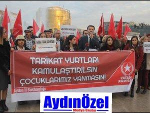 Vatan  Partisi : Tarikat Yurtları Kapatılsın