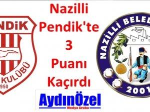 Nazilli İstanbul'dan Puanla Döndü