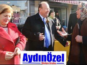 'Efeler'in Mesut Abisi' Salı Pazarı'nı ziyaret etti