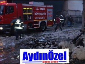 Aydın'da Kıl Fabrikasında Yangın!