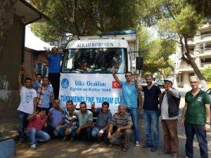 Aydın Ülkü Ocakları'ndan Türkmenlere Yardım