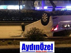Aydın Efeler'de Kaza - Araç Takla Attı