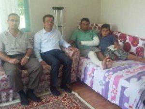 Karacasu Kaymakamı Yaralı Asker'i Ziyaret Etti