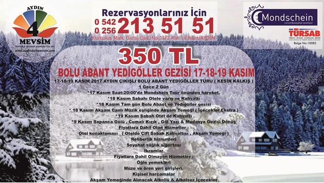 MONDSCHEIN TOUR DAN BOLU- ABANT-YEDİGÖLLER GEZİSİ