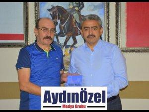 Yazar Olgun Ergün'den Başkan Alıcık'a ziyaret