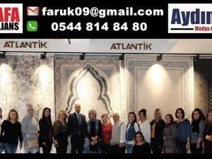 Nazilli Kadın Kolları Başkanı'ndan Atlantik Halı fabrikasına ziyaret