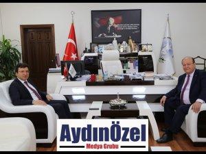 KAYMAKAM ŞAHİN'DEN BAŞKAN ÖZAKCAN'A ZİYARET