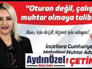İş Kadını Ebru Çetin Muhtar Adayı Oldu