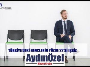 TÜRKİYE'DEKİ GENÇLERİN YÜZDE 22'Sİ İŞSİZ