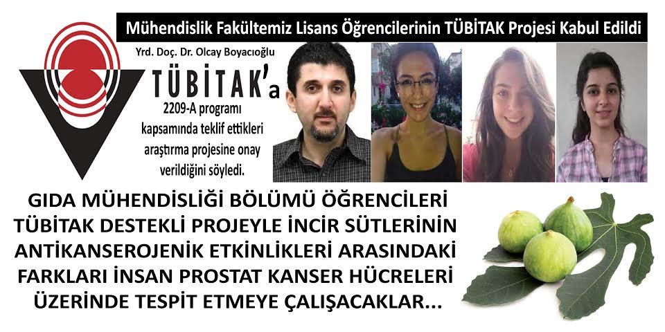 ADÜ Mühendislik Fakültesi TÜBİTAK Projesi Kabul Edildi