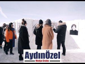 Türkiye'de Bir İlk Bioderma'dan Çıldır Gölü Üzerinde Sergi; Soğuktan Etkilenen Karslı Kadınların Cilt Hikayesi!