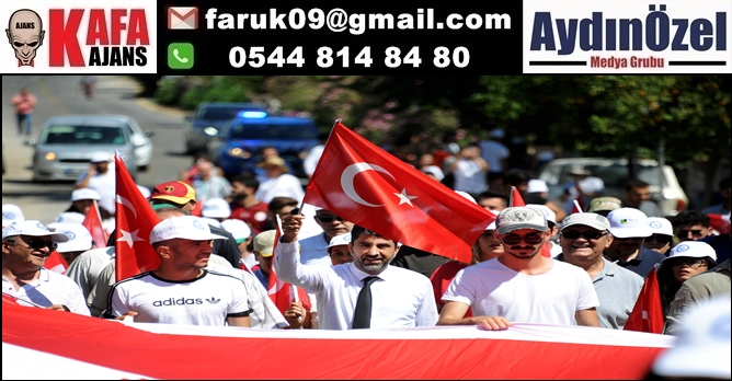 Ziraat Fakültesi 'Demokrasi Yürüyüşü' GERÇEKLEŞTİRDİ