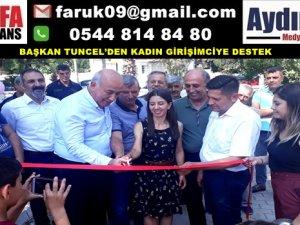 BAŞKAN TUNCEL'DEN KADIN GİRİŞİMCİYE DESTEK