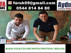 BAŞAK KOLEJİ İLE EGE WAFFLE PROTOKOL İMZALADI