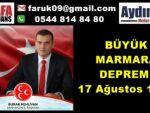 MHP Marmara Depremini Unutmadı