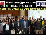 TÜBA ASOSİYE ÜYESİ ADÜ'DE KONFERANS VERDİ