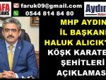 MHP'Lİ HALUK ALICIK KARATEPE ŞEHİTLERİ ANDI