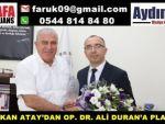 BAŞKAN ATAY'DAN OP. DR. ALİ DURAN'A PLAKET