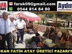BAŞKAN ATAY ÜRETİCİ PAZARI'NDA