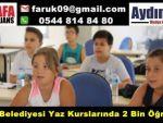 Söke Belediyesi Yaz Kurslarında 2 Bin Öğrenci
